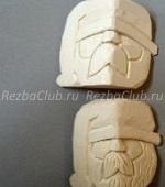 Как вырезать простое лицо санта клауса из дерева