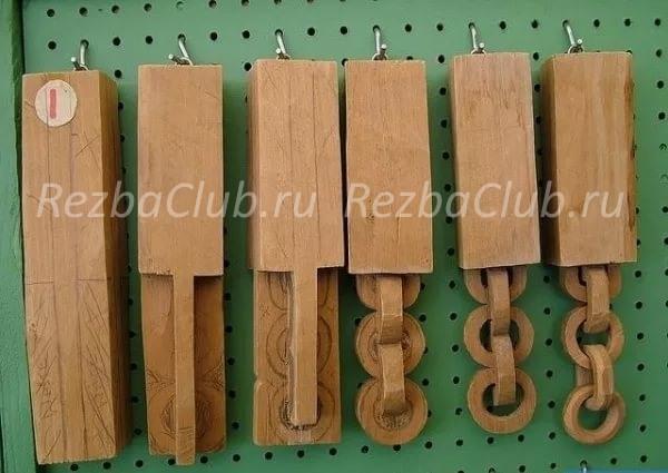 Цепь из дерева - наглядное пособие