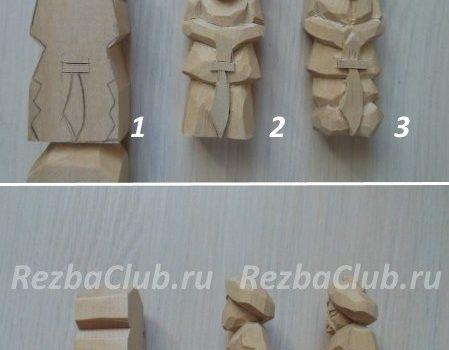 Как вырезать из дерева воина в чалме с саблей