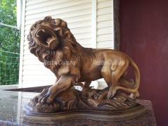 Как вырезать Льва из дерева превью