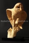 Как вырезать большую сову из дерева
