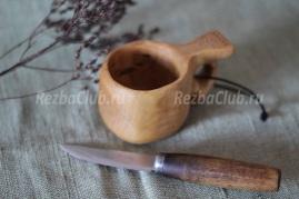 Кукса миниатюрная из дерева