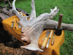 Как сделать лесного духа из ствола дерева