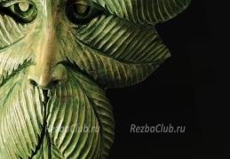 Зеленый человек маска из дерева