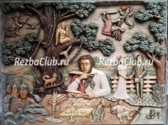 Как вырезать настенное панно с героями А.С.Пушкина