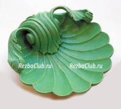 Декоративная тарелка - ракушка