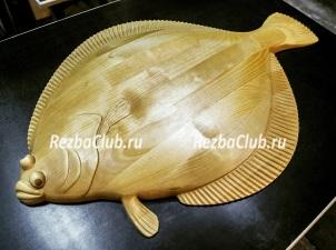 Как вырезать из дерева рыбу камбалу