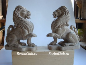 Львы для украшения полки