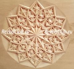 Розетка геометрическая — снежинка