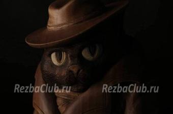Кот в пальто и шляпе - фигурка