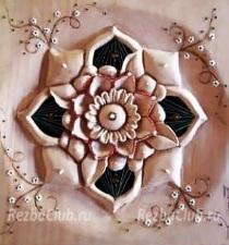 Объемный прорезной цветок - панно