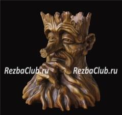 Голова лешего из дерева