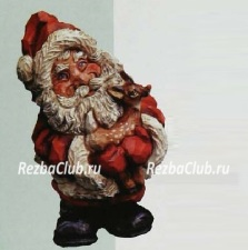 Санта-Клаус с олененком