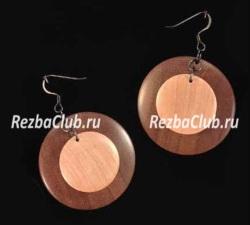Ювелирные точеные украшения из дерева