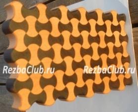 Разделочная доска из фрезерованных сегментов