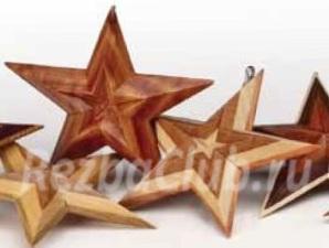 Как вырезать из дерева пятиконечную звезду